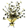 Champagne Glass & Top Hat Centerpiece - black & gold