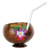 Coconut Cup - includes flower & straw