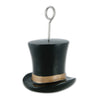 Top Hat Photo/Balloon Holder, black & gold