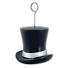 Top Hat Photo/Balloon Holder, black & silver (Case of 6)