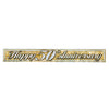 Metallic 50th Anniversary Fringe Banner - gold