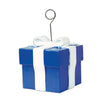 Birthday Party Supplies: Blue Gift Box Photo/Balloon Holder