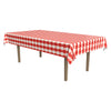 Masterpiece Plastic Gingham Rectangular Tablecover - red