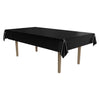 Masterpiece Plastic Rectangular Tablecover - black