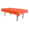 Masterpiece Plastic Rectangular Tablecover - orange