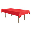 Masterpiece Plastic Rectangular Tablecover - red