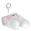 Baby Shoes Photo/Balloon Holder, white with pink upper