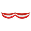 Red & White Fabric Bunting