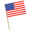 American Flag - Plastic - with 7.5'' wooden dowel