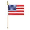 American Flag - Rayon - with 10.5'' plastic spear-tipped stick