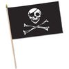 Pirate Flag - Rayon - with 10.5'' plastic spear-tipped stick