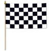 Racing Flag - Rayon - with 10.5'' plastic spear-tipped stick