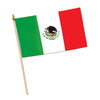 Mexican Flag - Rayon - with 10.5'' plastic spear-tipped stick