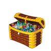 Inflatable Treasure Chest Cooler holds apprx 48 12-Oz cans