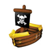 Inflatable Pirate Ship Cooler holds apprx 72 12-Oz cans