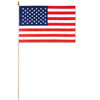 American Flag - Rayon - with 22'' plastic spear-tipped stick