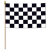Racing Flag - Rayon - with 22'' plastic spear-tipped stick