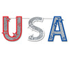 Patriotic Party Supplies - Glittered USA Streamer