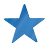Party Decorations - Die-Cut Foil Star, blue