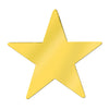 Party Decorations - Die-Cut Foil Star, gold