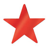 Party Decorations - Die-Cut Foil Star, red