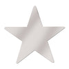 Party Decorations - Die-Cut Foil Star, silver