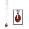 Beads with Football Medallion, black