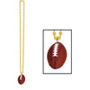 Football Party Supplies - Beads with Football Medallion, gold