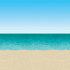 Luau Party Supplies - Blue Sky & Ocean Backdrop