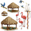 Luau Party Supplies - Tiki Hut & Tropical Bird Props