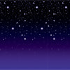 Beistle Starry Night Backdrop (Pack of 6) - Awards Night Party Theme, Oscars - Hollywood Party Theme
