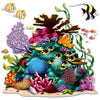 Luau Party Supplies - Coral Reef Prop - 3 fish included