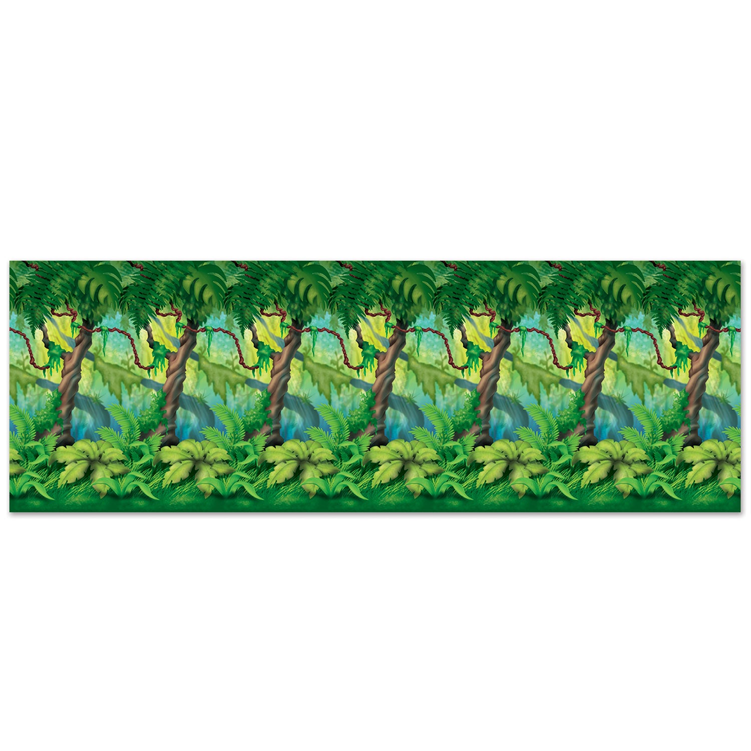 Theme Jungle 6/case) beistle jungle trees backdrop jungle party theme - bulk