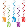 70 Whirls, party supplies, decorations, The Beistle Company, Birthday-AgeSpecific, Bulk, Birthday Party Supplies, Birthday Party Decorations, Birthday Party Danglers