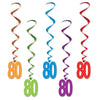 80 Whirls, party supplies, decorations, The Beistle Company, Birthday-AgeSpecific, Bulk, Birthday Party Supplies, Birthday Party Decorations, Birthday Party Danglers