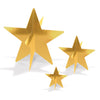 3-D Gold Foil Star Centerpieces, party supplies, decorations, The Beistle Company, Awards Night, Bulk, Awards Night Party Theme