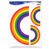 Rainbow Clings, party supplies, decorations, The Beistle Company, Rainbow, Bulk, Other Party Themes, Rainbow