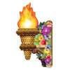 3-D Tiki Wall Torch with Flame, party supplies, decorations, The Beistle Company, Luau, Bulk, Luau Party Supplies, Luau Party Decorations, Miscellaneous Luau Party Decorations