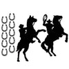 Western Silhouettes, party supplies, decorations, The Beistle Company, Western, Bulk, Western Party Theme, Western Party Decorations