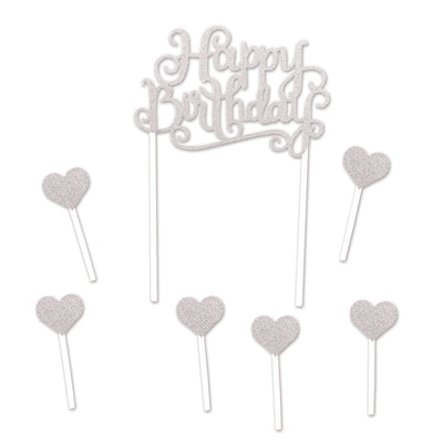 Happy Birthday Cake Topper (Pack of 12)