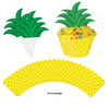 Beistle Pineapple Cupcake Wrappers (12 packs) - Luau Party Decorations, Luau Party Supplies, Miscellaneous Luau Party Decorations