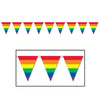 Rainbow Pennant Banner, party supplies, decorations, The Beistle Company, Rainbow, Bulk, Other Party Themes, Rainbow