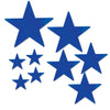 Pkgd Foil Star Cutouts Blue, party supplies, decorations, The Beistle Company, General Occasion, Bulk, General Party Decorations, Foil Stars Decoration