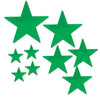 Pkgd Foil Star Cutouts Green, party supplies, decorations, The Beistle Company, General Occasion, Bulk, General Party Decorations, Foil Stars Decoration
