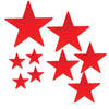 Pkgd Foil Star Cutouts Red, party supplies, decorations, The Beistle Company, General Occasion, Bulk, General Party Decorations, Foil Stars Decoration