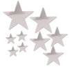 Pkgd Foil Star Cutouts Sliver, party supplies, decorations, The Beistle Company, General Occasion, Bulk, General Party Decorations, Foil Stars Decoration