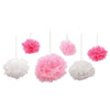 Pink and White Tissue Fluff Balls, party supplies, decorations, The Beistle Company, Baby Shower, Bulk, Baby Shower Decorations, Baby Shower Decorations