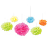 Tissue Fluff Balls Bright Colors, party supplies, decorations, The Beistle Company, General Occasion, Bulk, General Party Decorations, Tissue Balls Decoration, 12 Inch Tissue Ball Decorations