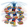 Beistle Hero Cascade Centerpiece (Pack of 6) - Popular Themes, Super Hero Party Theme
