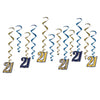 Beistle  '21' Party Decoration Whirls (6 packs) - 21st Birthday, Birthday Party Decorations